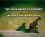 Turtle Recall #031 – The Ninja Sword of Nowhere